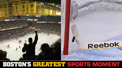 Is Boston Garden's Last Hurrah or Tim Thomas' Stick Save on Steve Downie a Bigger Boston Sports Moment?