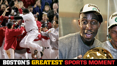 Is David Ortiz's Game 4 Walk-Off or Kevin Garnett's 'Anything Is Possible' Speech a Bigger Boston Sports Moment?