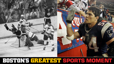 Is Bobby Orr's Famous Goal or Tedy Bruschi's Return From a Stroke a Bigger Boston Sports Moment?