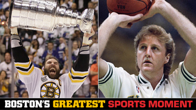 Is Boston Bruins' 2011 Stanley Cup Victory or Larry Bird's 1986 3-Point Contest Performance a Bigger Boston Sports Moment?