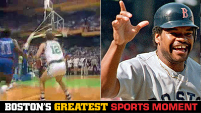 Is Larry Bird's Steal Against the Pistons or Dave Henderson's Homer in 1986 ALCS a Bigger Boston Sports Moment?