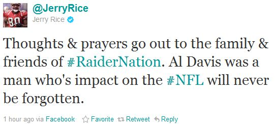 Al Davis Remembered Positively on Twitter by NFL Players, Personalities