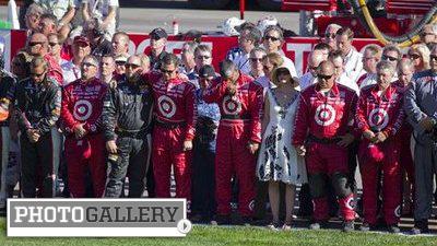 Dan Wheldon's Death Following Horrific Crash Creates Somber Scene at Las Vegas Motor Speedway (Photos)