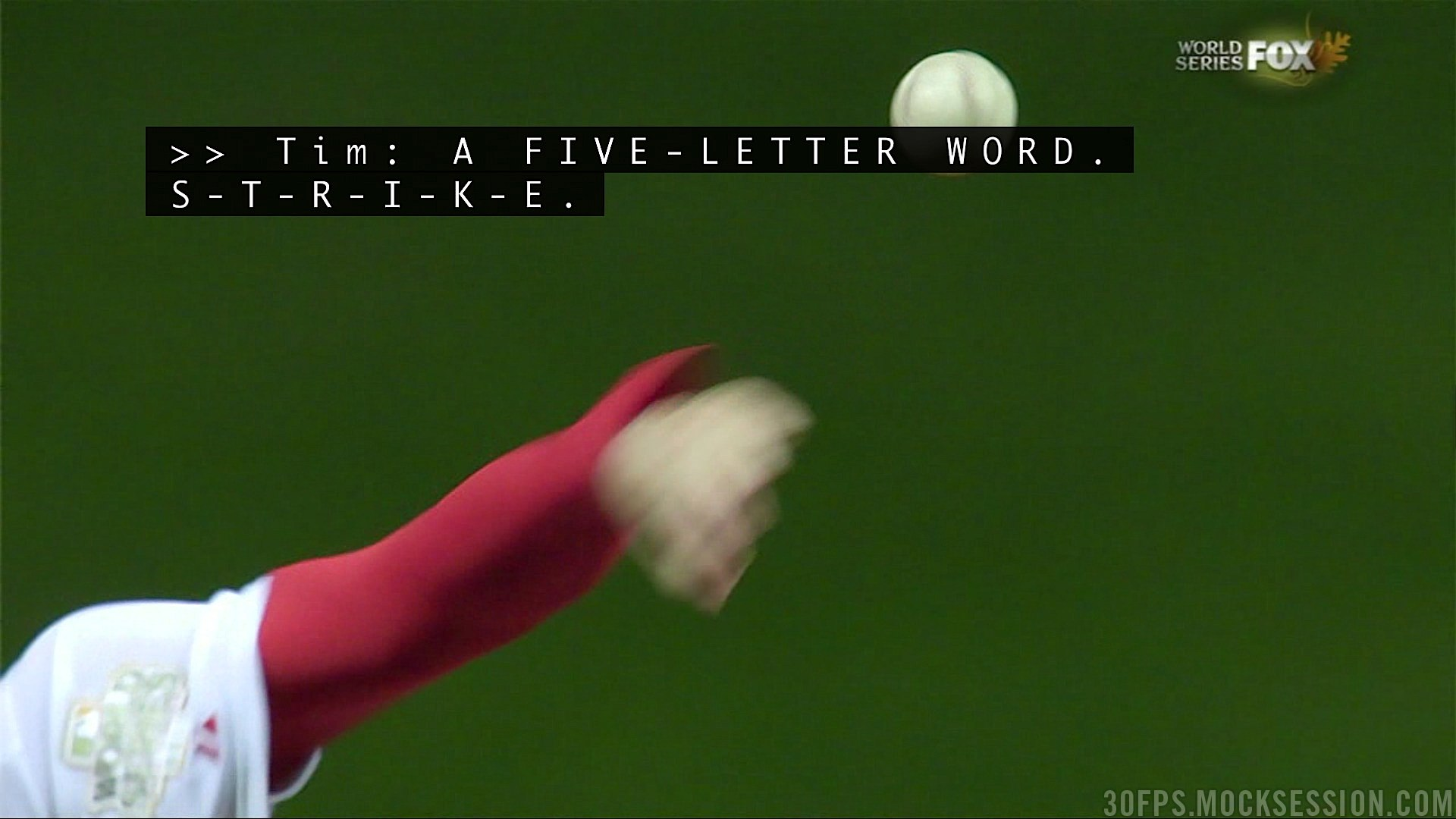 Tim McCarver Calls 'Strike' a 'Five-Letter Word,' Spells It Out During World Series Broadcast