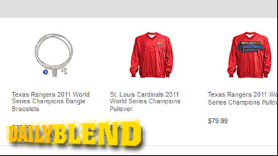 Cardinals Win World Series, But MLB Shop Recommends 2011 Texas Rangers Championship Gear