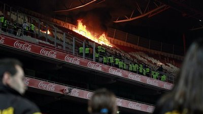 Sporting Lisbon Fans Set Fire to Benfica's Stadium of Light After Derby Defeat (Video)
