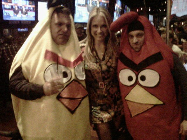 Heidi Watney, Jerry Remy, Alyssa Riley Judge Costume Contest at Jerry Remy's Sports Bar and Grill