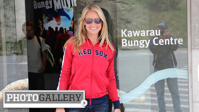 Heidi Watney Gets Thrill of a Lifetime While Bungee Jumping at 'Birthplace' in New Zealand (Photos)