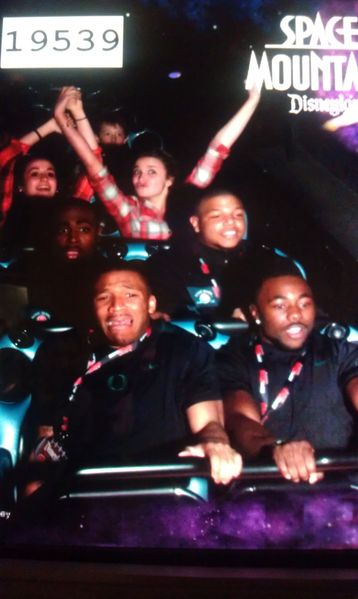 LaMichael James Displays Face of Terror While Riding Space Mountain at Disneyland (Photo)