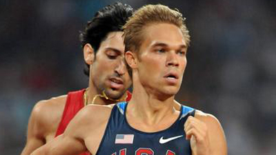 U.S. Olympic Runner Nick Symmonds Auctioning Off Twitter Tattoo On Shoulder During 2012 London Games