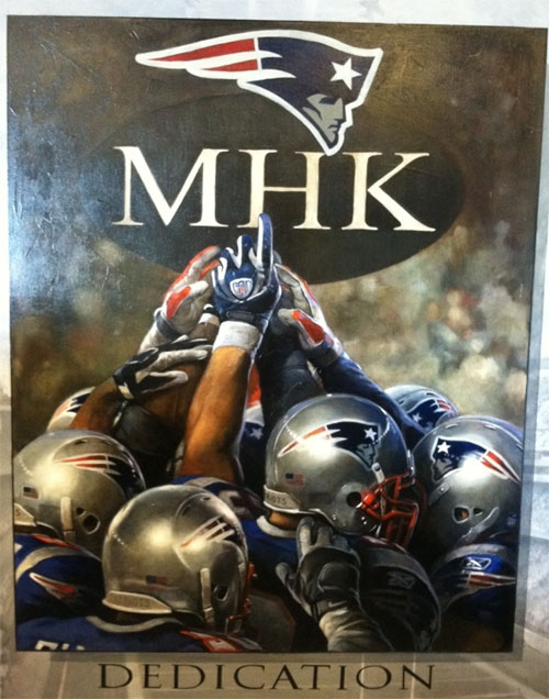 Myra Kraft Continues to Inspire Patriots, As Meaningful Painting Adorns Locker Room on Game Days