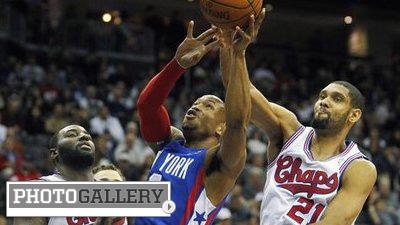 LeBron James, Blake Griffin, Tim Duncan Show Off NBA Throwback Uniforms (Photos)
