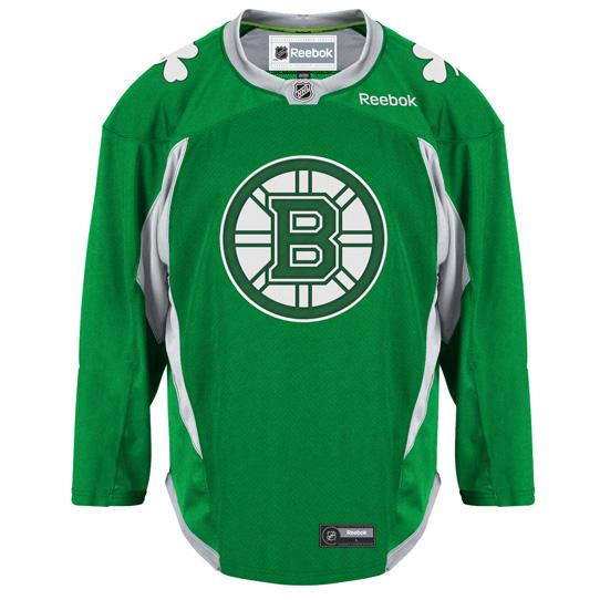 Bruins St. Patrick's Day Practice Jersey On Sale at Pro Shop (Photo)