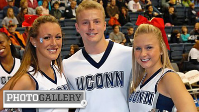 University of Connecticut, Baylor, Kentucky Among Cheerleading Squads Supporting Teams in Competitive South Region (Photos)
