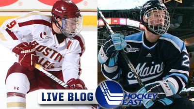 Hockey East Live Blog: Parker Milner, Johnny Gaudreau Lead BC to 4-1 Win Over Maine, Third-Straight Conference Title