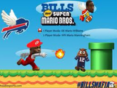 Mario Williams' New Twitter Avatar Features Tom Brady as Victim of Fireball Attack (Photo)