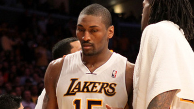Over/Under on Metta World Peace's Suspension for Elbowing James Harden Set at 7 1/2 Games