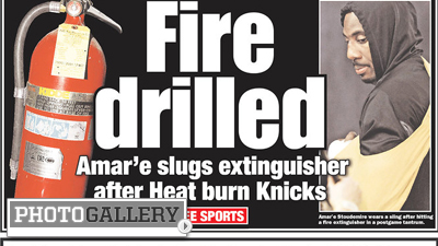 Amare Stoudemire Joins Likes of Steve Smith, Kevin Brown on List of Dumbest Sports Injuries (Photos)