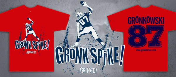 Rob Gronkowski 'Gronk Spike' T-Shirt Now Available on Website Devoted to Gronkowski Brothers (Photo)