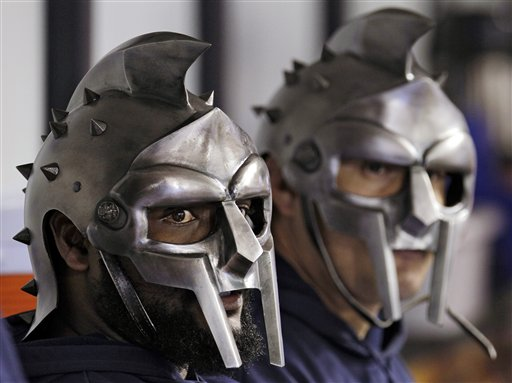 Tampa Bay Rays Pitchers Wear Gladiator Helmets in Dugout During Game (Photo, Video)