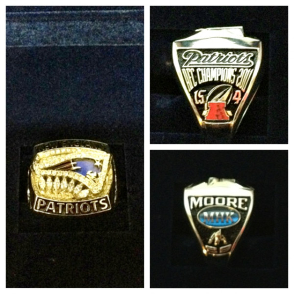 Patriots Receive AFC Championship Rings From Owner Robert Kraft (Photo)