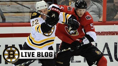 Bruins Live Blog: Daniel Paille Scores Twice, Tim Thomas Comes Up Big in Net As B's Take 5-2 Win in Ottawa