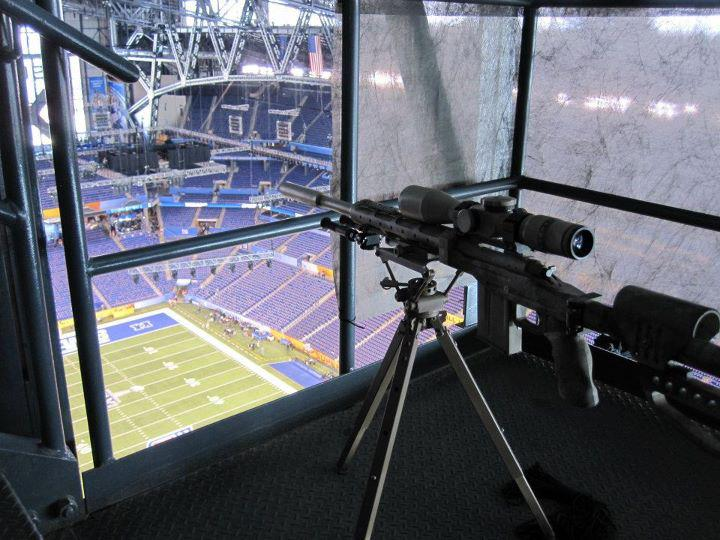 Lucas Oil Stadium Security Appears to Have Had Sniper's Nest Set Up at Super Bowl XLVI (Photos)