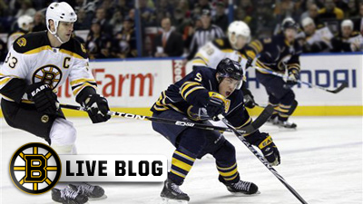 Bruins Live Blog: B's Still Can't Put Together Back-to-Back Wins As Sabres Prevail 2-1 in Shootout in Buffalo