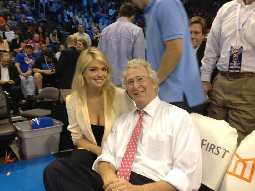 Kate Upton's Presence at Chesapeake Energy Arena Proves to Distract Thunder, Suns