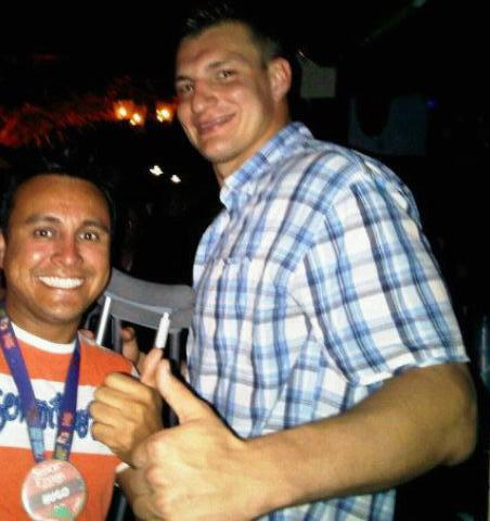Rob Gronkowski Spotted Partying in Aruba Alongside Fans (Photos)