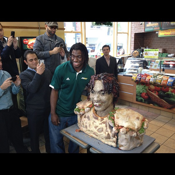 Robert Griffin III Appears in Tasty Sandwich Glory as NFL Draft Approaches (Photo)