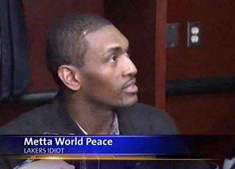 Metta World Peace Referred to As 'Lakers Idiot' by Chicago News Station (Photo)