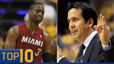 Dwyane Wade, Erik Spoelstra Feud Joins Top 10 Player-Coach Confrontations of All Time (Videos)