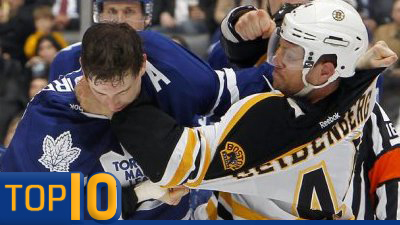 Dennis Seidenberg's Unexpected Bout, Milan Lucic's Dominance in Top 10 Bruins Fights of 2011-12 (Videos)