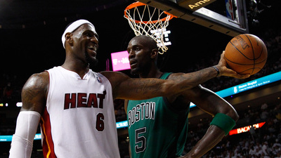 LeBron James Laughs in Kevin Garnett's Face After Being Fouled Hard in Fourth Quarter (Video)