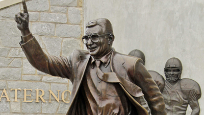Banner Flying Over Penn State Demands School to Take Joe Paterno Statue Down or 'We Will' (Photos)
