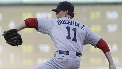 Clay Buchholz' Domination of Rangers Propels Righty to Second Consecutive Amica Pitcher of the Week Award