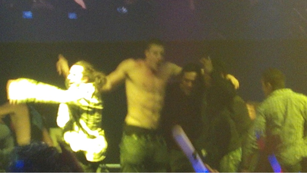 Rob Gronkowski Spotted Partying, Dancing Shirtless With LMFAO After Super Bowl XLVI Loss (Photo)
