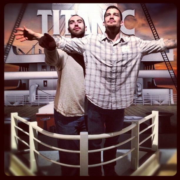 Zdeno Chara, Andrew Ference Spend Off Day Re-Enacting Scenes from Titanic (Photo)