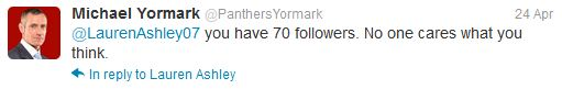 Florida Panthers COO Michael Yormark Acts Like Twitter Czar in Calling Out Fans After Decision to Ban Rats
