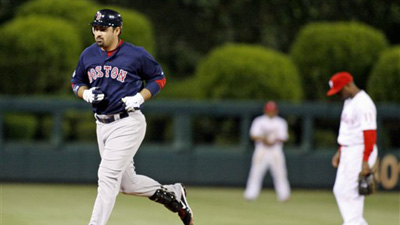 Bobby Valentine Remains Confident in Adrian Gonzalez' Abilities in Outfield as David Ortiz Starts at First Base