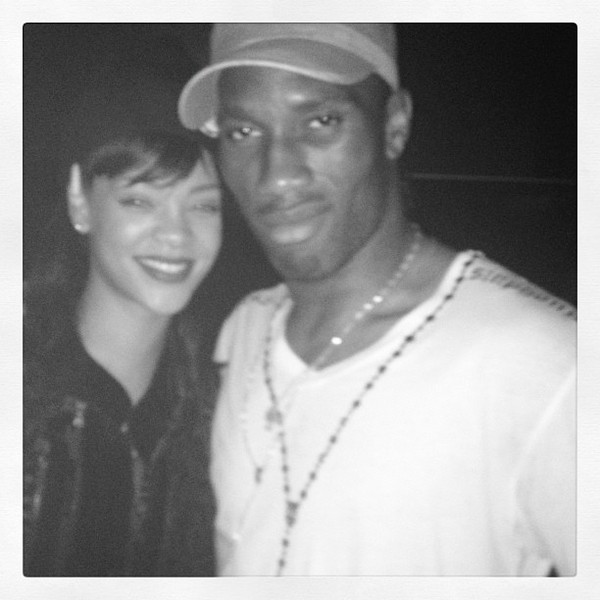 Partying With Didier Drogba and Chelsea FC Stars Makes Rihanna Believe in God (Photo)