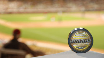 Grinds 'Coffee in Your Pocket' Offers Alternative to Chewing Tobacco in Major League Baseball Clubhouses