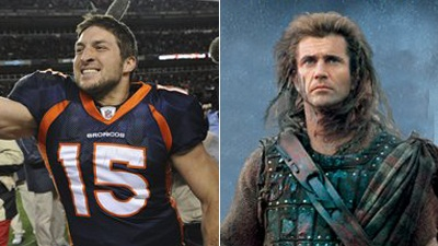 Tim Tebow's Greatest Inspiration Comes From Old Testament-Like Bastion of Wrath 'Braveheart'