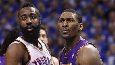 Metta World Peace Calls James Harden 'No Brain All Beard' in Tweet During NBA Finals Game
