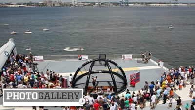 South Atlantic League Home Run Derby Takes Place on USS Yorktown, Offers Unique Experience (Photos)