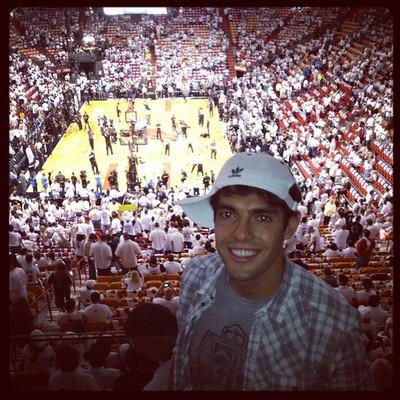 Kaka Witnesses LeBron James Win First NBA Championship (Photo)