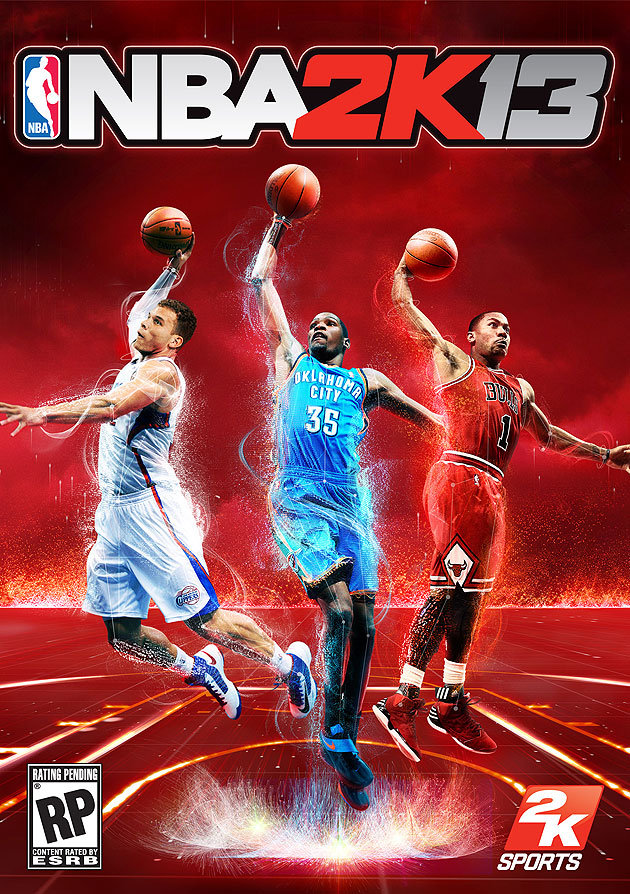 Blake Griffin, Kevin Durant, Derrick Rose Share Cover of NBA2K13 (Photo)