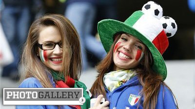 Eye-Catching Italian Fans Enjoy Azzuri's Run to Euro 2012 Final (Photos)