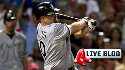 Red Sox Live Blog: Kevin Youkilis Has Banner Night as White Sox Hold Off Boston Comeback for 7-5 Win
